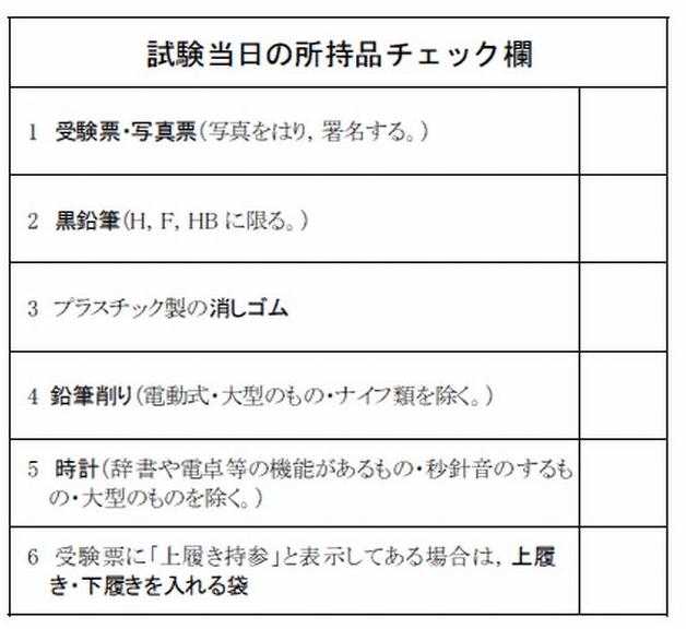 平成28年度センター試験、所持品について【大学受験勉強】